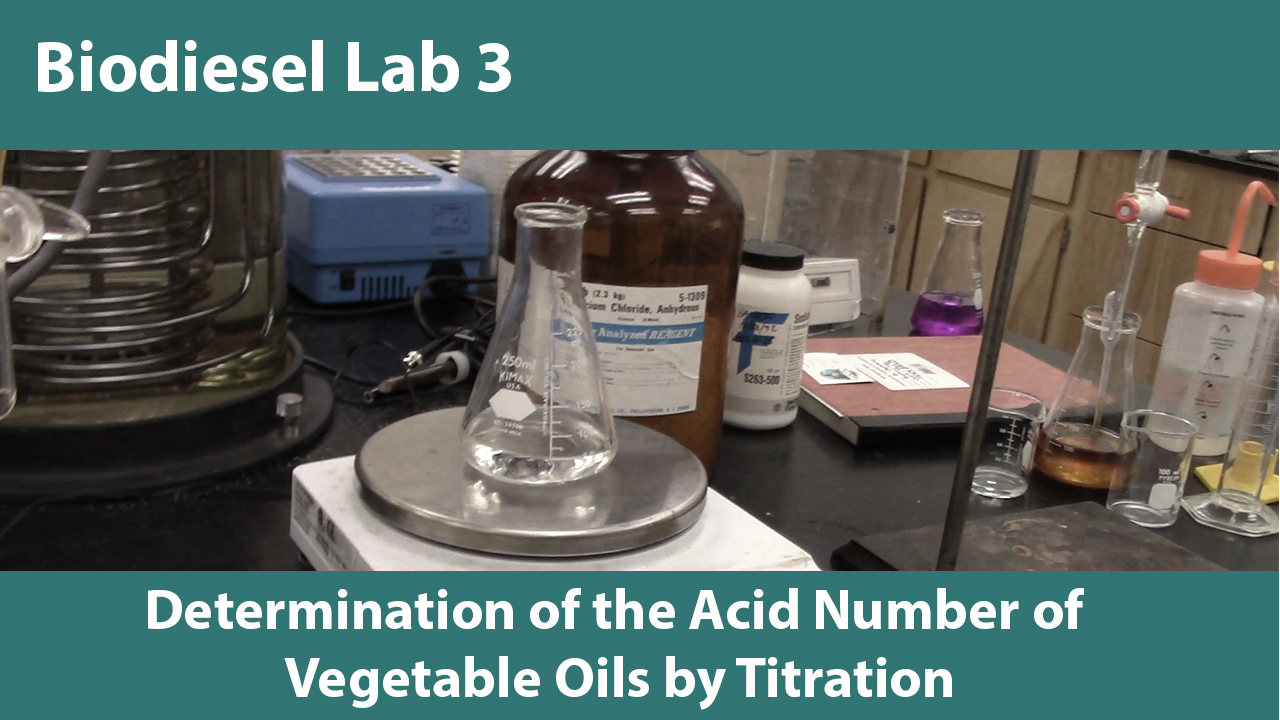 Determination of the Acid Value of Vegetable Oils by Titration