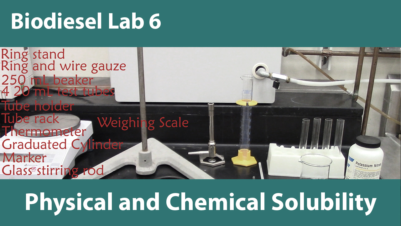 Lab 6: Physical and Chemical Solubility