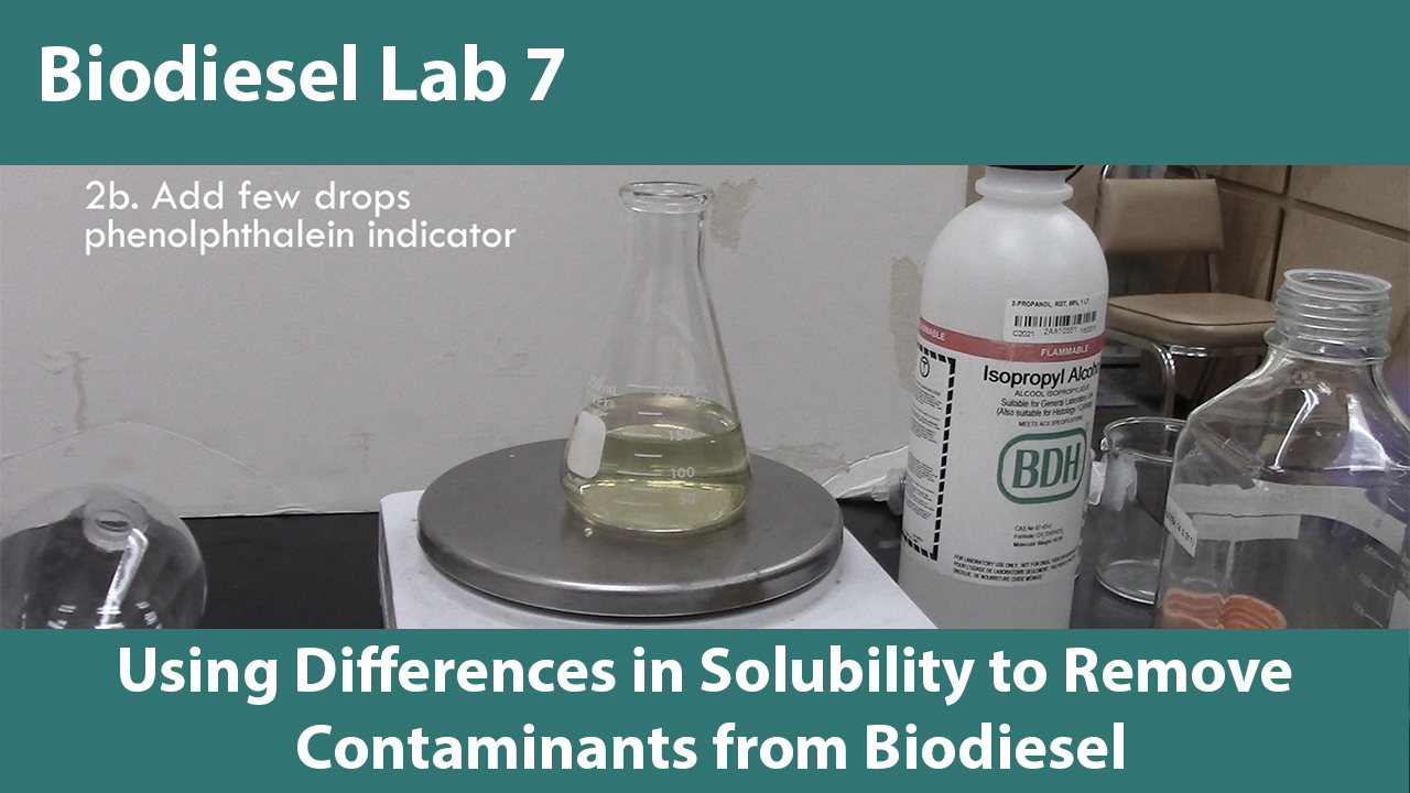 Lab 7: Using Differences in Solubility to Remove Contaminants from Biodiesel